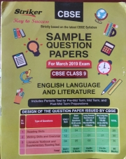 STRIKER CBSE SAMPLE QUESTION PAPERS CLASS 9 ENGLISH LANGUAGE AND LITERATURE