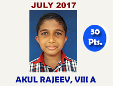Akul Rajeev, VIII A