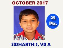 Sidharth S, VII A