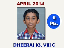 Dheeraj, VIII C