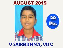 V Saikrishna, VII C