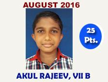 Akul Rajeev, VII B