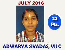 Aiswarya Sivadas, VII C